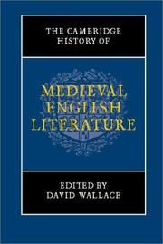 Cover of: The Cambridge History of Medieval English Literature | David Wallace