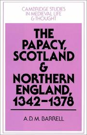 Cover of: The Papacy, Scotland and Northern England, 13421378
