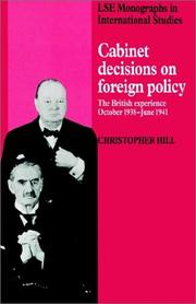 Cover of: Cabinet Decisions on Foreign Policy