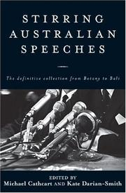 Cover of: Stirring Australian Speeches | Michael Cathcart