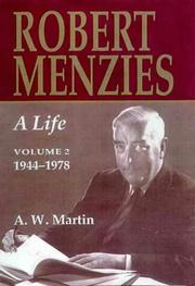 Cover of: Robert Menzies: A Life | A. W. Martin