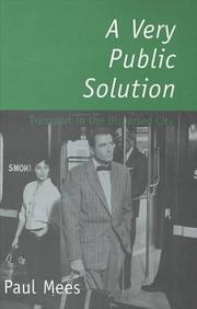 Cover of: A very public solution