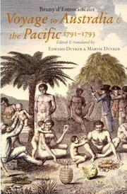Cover of: Voyage to Australia and the Pacific 1791-1793 |