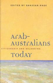 Cover of: Arab-Australians today |
