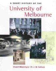 Cover of: A short history of the University of Melbourne
