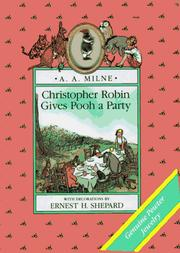 Cover of: Christopher Robin gives Pooh a party