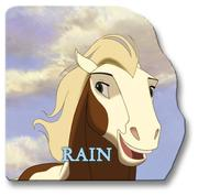 Cover of: Rain: A Giant Shaped Board Book (Spirit: Stallion of the Cimarron)