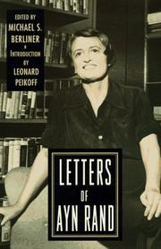 Cover of: Letters of Ayn Rand