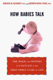 Cover of: How babies talk | Roberta M. Golinkoff