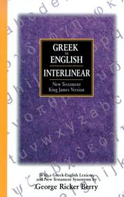 Cover of: Interlinear Greek-English New Testament | George Ricker Berry