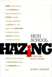 Cover of: High School Hazing