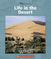 Cover of: Life in the desert