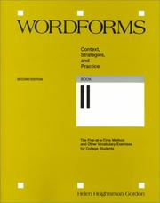 Cover of: Wordforms | Helen Heightsman Gordon