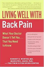 Cover of: Living Well with Back Pain | Robert B. Winter