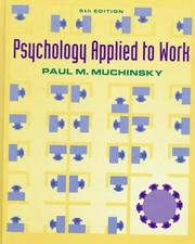 Cover of: Psychology applied to work