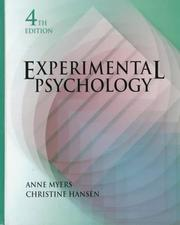 Cover of: Experimental psychology | Anne Myers