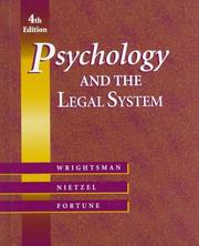 Cover of: Psychology & the legal system | Lawrence S. Wrightsman