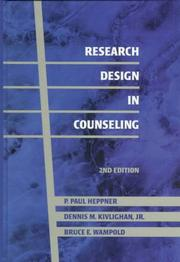 Cover of: Research design in counseling | P. Paul Heppner
