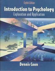 Cover of: Introduction to psychology