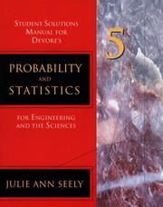 Cover of: Probability and Statistics for Engineering and Science | Julie Ann Seely
