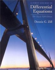 Cover of: A First Course in Differential Equations | Dennis G. Zill