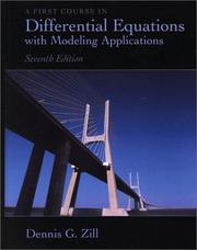 Cover of: A first course in differential equations with modeling applications