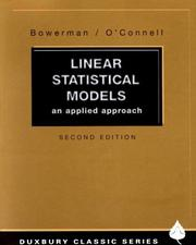 Cover of: Linear statistical models