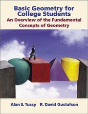 Cover of: Basic Geometry for College Students | Alan S. Tussy