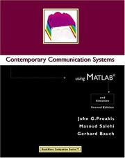 Contemporary Communication Systems Using MATLAB by John G. Proakis, Masoud Salehi, Gerhard Bauch