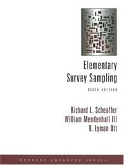 Cover of: Elementary Survey Sampling (with CD-ROM) (Duxbury Advanced Seies)