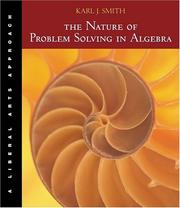 Cover of: The Nature of Problem Solving in Algebra