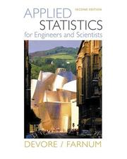 Cover of: Applied statistics for engineers and scientists