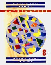Cover of: Guiding children's learning of mathematics