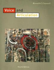 Cover of: Voice and articulation