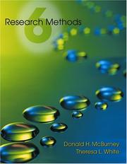 Research methods by Donald McBurney