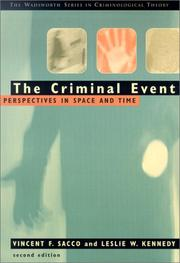 Cover of: criminal event | Vincent Sacco