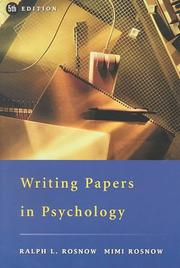 Cover of: Writing papers in psychology