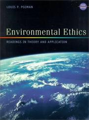 Cover of: Environmental Ethics: Readings in Theory and Application