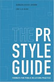 Cover of: The PR StyleGuide | Barbara Diggs-Brown