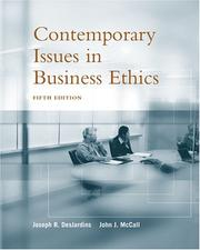 Cover of: Contemporary Issues in Business Ethics | Joseph R. DesJardins