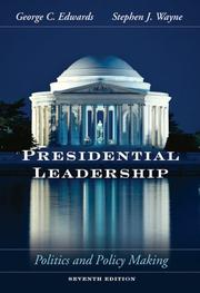 Cover of: Presidential Leadership | III, George C. Edwards