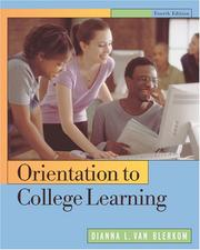 Cover of: Orientation to College Learning | Dianna L. Van Blerkom