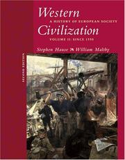 Cover of: Western Civilization: A History of European Society, Volume II | Steven Hause, William Maltby