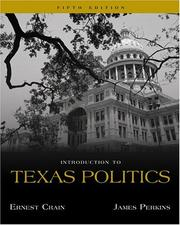 Cover of: Introduction to Texas politics | Ernest Crain