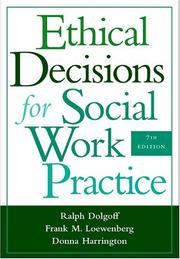Cover of: Ethical decisions for social work practice