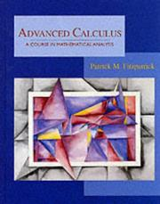 Cover of: Advanced calculus