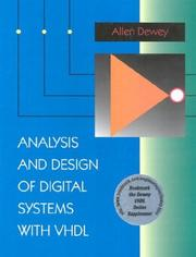 Cover of: Analysis and design of digital systems with VHDL