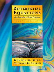 Cover of: Differential equations with boundary-value problems