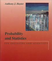 Cover of: Probability and statistics for engineers and scientists