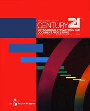 Cover of: Century 21 keyboarding, formatting, and document processing |